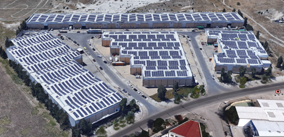 Parque fotovoltaico sobre cubierta (Jerez)